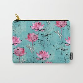 Waterlily dragonfly Carry-All Pouch