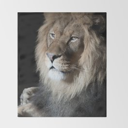 Portrait of a King Throw Blanket
