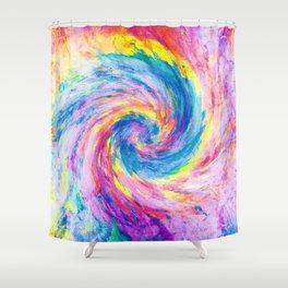 digital tie dye 15 Shower Curtain