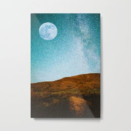 Pastoral Moonrise Metal Print