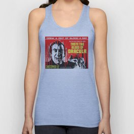 Taste the Blood of Dracula, vintage horror movie poster Unisex Tank Top