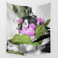 lotus Wall Tapestries featuring Lotus by SEVENTRAPS