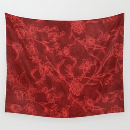 Flower Pattern (Red version) Wall Tapestry