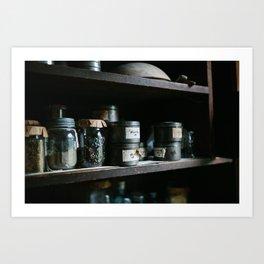 Vintage Pantry & Spices II Art Print