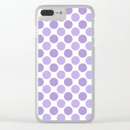 Modern trendy lavender lilac hipster polka dots Clear iPhone Case