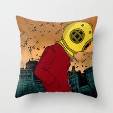 City Diving Throw Pillow