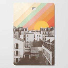 Rainbow Sky Above Paris Cutting Board