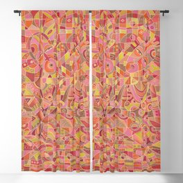 Dialogue V love and marriage painting Blackout Curtain