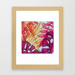 Warm Tropics Framed Art Print