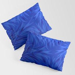 Palm Tree Fronds Brilliant Blue on Blue Hawaii Tropical Décor Pillow Sham