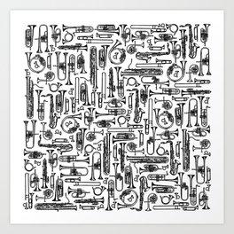 Horns B&W II Art Print