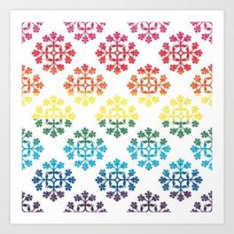 LGBTQIA+ Pride Flag Rainbow Ornamental Tile Design Art Print