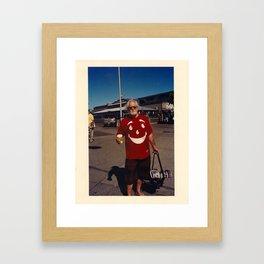 Man At Water Front Framed Art Print