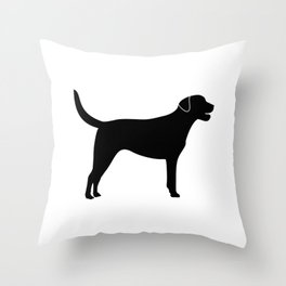Black Labrador Retriever Silhouette Throw Pillow