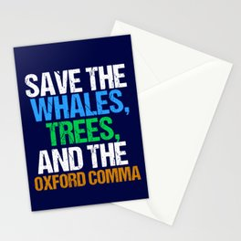 Save The Oxford Comma Stationery Cards