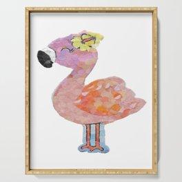 """"""" Flamingo Cutie """" Serving Tray"""