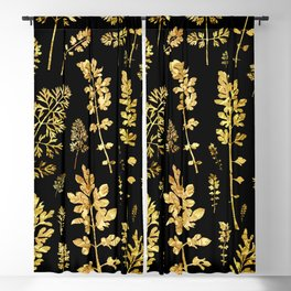 parsley of gold Blackout Curtain