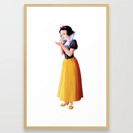 Snow Apple Framed Art Print