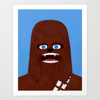 chewbacca Art Prints featuring Chewbacca by Jack Teagle