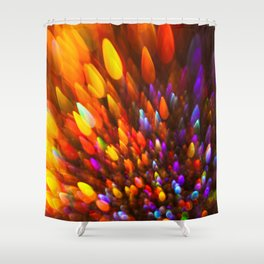 Champagne Sparkles and Color Bomb Burst Shower Curtain