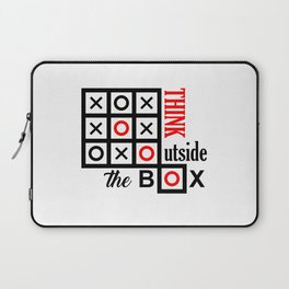 think outside the box Laptop Sleeve