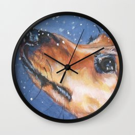 The Dachshund dog portrait from an original painting by L.A.Shepard Wall Clock