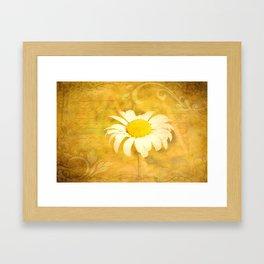 Textured Daisy Framed Art Print