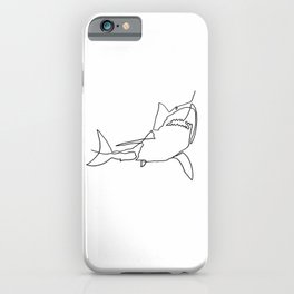 Great White Shark (white) iPhone Case