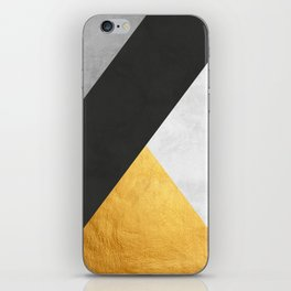 Abstract Golden Art I iPhone Skin