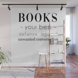 Book Lover Gift, introvert gift, bibliophile, gift for reader, bookworm Wall Mural