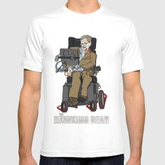 The Hawking Dead White Mens Fitted Tee MEDIUM