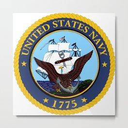 U S Navy Crest Metal Print