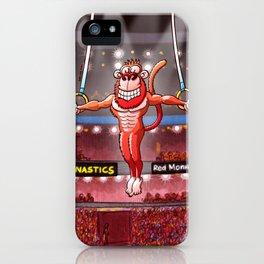 Olympic Flying Rings Monkey iPhone Case