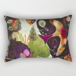 """""""Deep Peace"""" Original Painting by Flora Bowley Rectangular Pillow"""