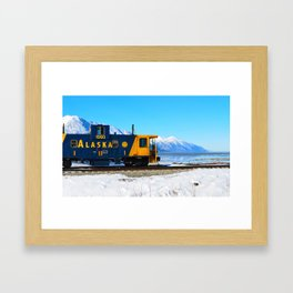Caboose - Alaska Train Framed Art Print