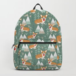 Corgis in the mountains Backpack