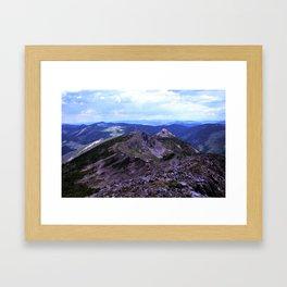 Shale Mountains, Idaho Framed Art Print