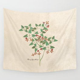 Horned Goat Weed Wall Tapestry