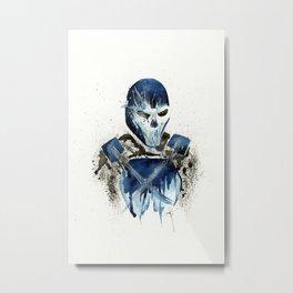 Crossbones - Splatter Artwork Metal Print