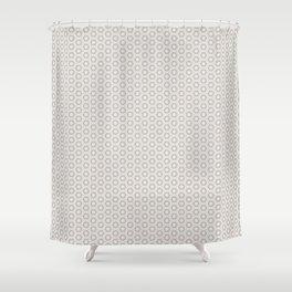 Hexagon Light Gray Pattern Shower Curtain