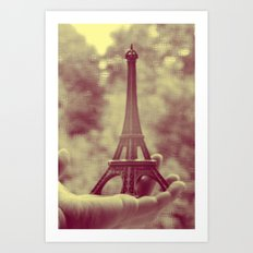 holding the tower Art Print