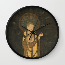 Welcoming Descent of Jizo 13th Century Japanese Scroll Wall Clock