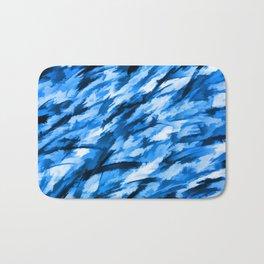 Blue Designer Camo Bath Mat