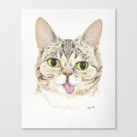 lil bub Canvas Prints featuring Lil Bub by ItsSabbyG