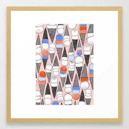 We All Scream, for ICE CREAM!!! Framed Art Print