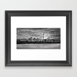 A view of downtown Toronto. Framed Art Print