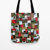 home alone Tote Bags featuring Not Home Alone by Nick Villalva