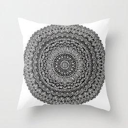 BULLSEYE No. 1 Mandala Drawing Throw Pillow