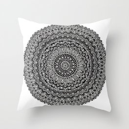 BULLSEYE No. 1 Mandala Drawing Throw Pillow