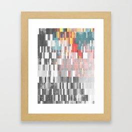 Vibrant Graffity on Black and White Geometry Framed Art Print